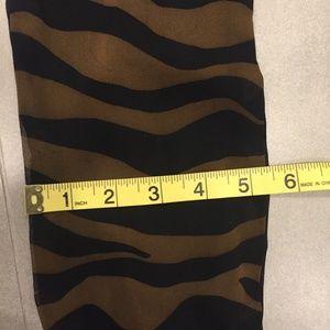 Unbranded Accessories - Tiger Print Dark Brown and Black Striped Belt